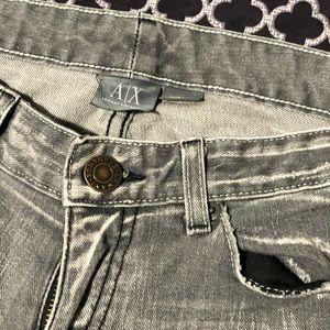 Armani Exchange Distressed Denim Jeans Skinny